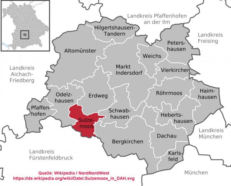 Grossansicht in neuem Fenster: Lageplan der gemeinde im Landkreis