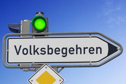 """Signal """"grün"""" für das Volksbegehren"""